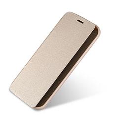 Etui Portefeuille Livre Cuir pour Samsung Galaxy S6 Edge SM-G925 Or