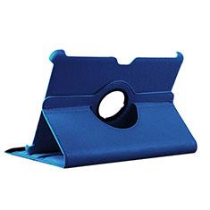 Etui Portefeuille Livre Cuir pour Samsung Galaxy Tab 2 10.1 P5100 P5110 Bleu