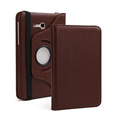 Etui Portefeuille Livre Cuir pour Samsung Galaxy Tab 3 Lite 7.0 T110 T113 Marron