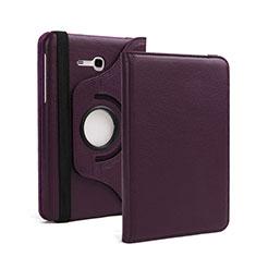Etui Portefeuille Livre Cuir pour Samsung Galaxy Tab 3 Lite 7.0 T110 T113 Violet