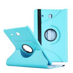 Etui Portefeuille Livre Cuir pour Samsung Galaxy Tab E 9.6 T560 T561 Bleu