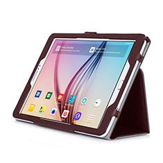 Etui Portefeuille Livre Cuir pour Samsung Galaxy Tab S2 9.7 SM-T810 SM-T815 Marron
