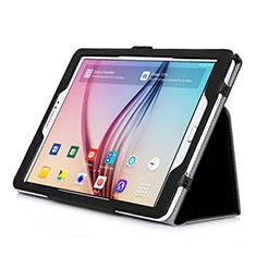 Etui Portefeuille Livre Cuir pour Samsung Galaxy Tab S2 9.7 SM-T810 SM-T815 Noir