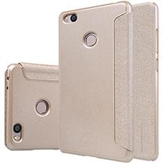 Etui Portefeuille Livre Cuir pour Xiaomi Mi 4S Or