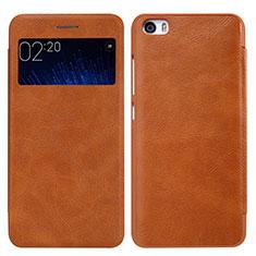 Etui Portefeuille Livre Cuir pour Xiaomi Mi 5 Marron