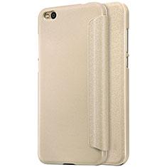 Etui Portefeuille Livre Cuir pour Xiaomi Mi 5C Or