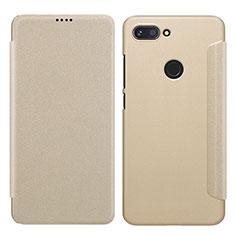 Etui Portefeuille Livre Cuir pour Xiaomi Mi 8 Lite Or