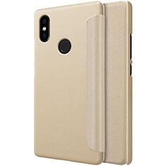 Etui Portefeuille Livre Cuir pour Xiaomi Mi 8 SE Or