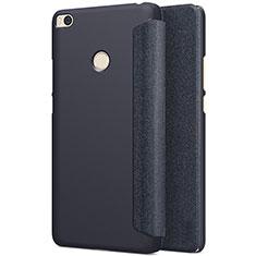 Etui Portefeuille Livre Cuir pour Xiaomi Mi Max 2 Noir