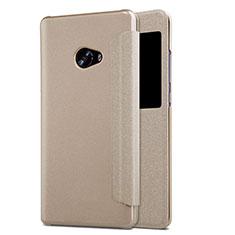 Etui Portefeuille Livre Cuir pour Xiaomi Mi Note 2 Or