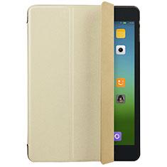 Etui Portefeuille Livre Cuir pour Xiaomi Mi Pad 3 Or