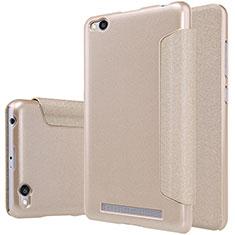 Etui Portefeuille Livre Cuir pour Xiaomi Redmi 3 Or