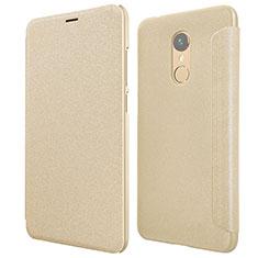 Etui Portefeuille Livre Cuir pour Xiaomi Redmi 5 Or