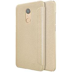 Etui Portefeuille Livre Cuir pour Xiaomi Redmi 5 Plus Or