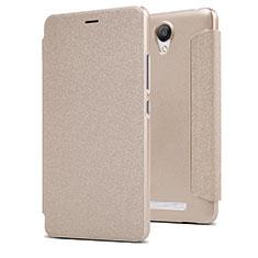 Etui Portefeuille Livre Cuir pour Xiaomi Redmi Note 2 Or