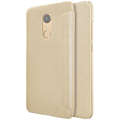 Etui Portefeuille Livre Cuir pour Xiaomi Redmi Note 5 Indian Version Or