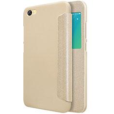Etui Portefeuille Livre Cuir pour Xiaomi Redmi Note 5A Standard Edition Or