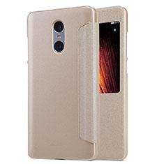 Etui Portefeuille Livre Cuir pour Xiaomi Redmi Pro Or
