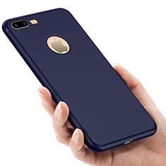 Etui Silicone avec Trou Souple Couleur Unie pour Apple iPhone 8 Plus Bleu
