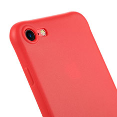 Etui Silicone Gel Souple Couleur Unie C01 pour Apple iPhone 7 Rouge