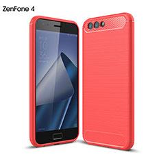 Etui Silicone Gel Souple Couleur Unie pour Asus Zenfone 4 ZE554KL Rouge