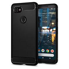 Etui Silicone Gel Souple Couleur Unie pour Google Pixel 2 XL Noir