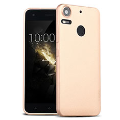 Etui Silicone Gel Souple Couleur Unie pour HTC Desire 10 Pro Or