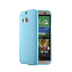 Etui Silicone Gel Souple Couleur Unie pour HTC One M8 Bleu