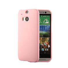 Etui Silicone Gel Souple Couleur Unie pour HTC One M8 Rose