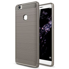 Etui Silicone Gel Souple Couleur Unie pour Huawei Honor Note 8 Gris