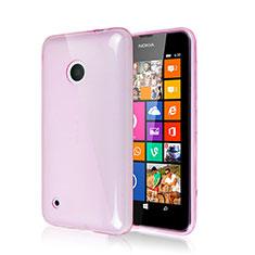 Etui Silicone Gel Souple Couleur Unie pour Nokia Lumia 530 Rose