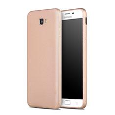 Etui Silicone Gel Souple Couleur Unie pour Samsung Galaxy J7 Prime Or