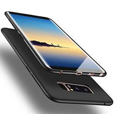 Etui Silicone Gel Souple Couleur Unie pour Samsung Galaxy Note 8 Duos N950F Noir