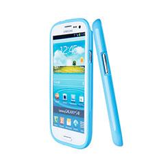 Etui Silicone Gel Souple Couleur Unie pour Samsung Galaxy S3 III LTE 4G Bleu