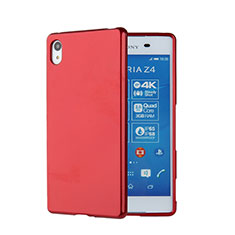Etui Silicone Gel Souple Couleur Unie pour Sony Xperia Z3+ Plus Rouge