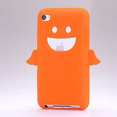 Etui Silicone Souple Ange pour Apple iPod Touch 4 Orange