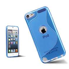 Etui TPU Souple Transparente Vague S-Line pour Apple iPod Touch 5 Bleu