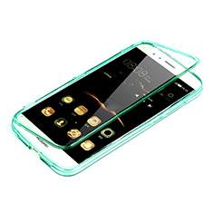 Etui Transparente Integrale Silicone Souple Avant et Arriere pour Huawei G8 Vert