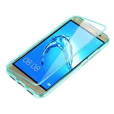 Etui Transparente Integrale Silicone Souple Avant et Arriere pour Huawei G9 Plus Bleu Ciel