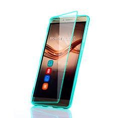 Etui Transparente Integrale Silicone Souple Avant et Arriere pour Huawei Honor Note 8 Vert