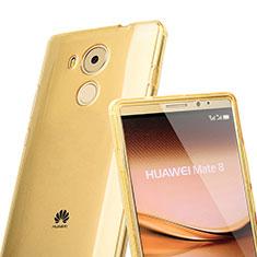Etui Transparente Integrale Silicone Souple Avant et Arriere pour Huawei Mate 8 Or