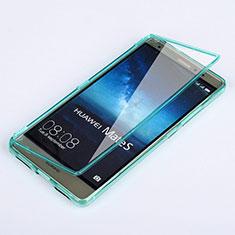 Etui Transparente Integrale Silicone Souple Avant et Arriere pour Huawei Mate S Bleu Ciel