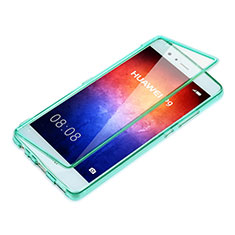 Etui Transparente Integrale Silicone Souple Avant et Arriere pour Huawei P9 Plus Bleu Ciel
