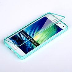 Etui Transparente Integrale Silicone Souple Avant et Arriere pour Samsung Galaxy A5 Duos SM-500F Bleu Ciel