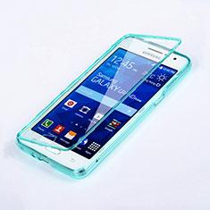 Etui Transparente Integrale Silicone Souple Avant et Arriere pour Samsung Galaxy Grand Prime 4G G531F Duos TV Bleu Ciel