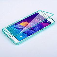 Etui Transparente Integrale Silicone Souple Avant et Arriere pour Samsung Galaxy Note 5 N9200 N920 N920F Bleu Ciel