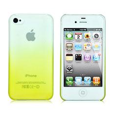 Etui Transparente Rigide Degrade pour Apple iPhone 4 Jaune