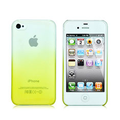 Etui Transparente Rigide Degrade pour Apple iPhone 4S Jaune