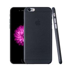 Etui Ultra Fine Plastique Rigide Transparente pour Apple iPhone 6 Gris Fonce