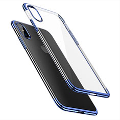 Etui Ultra Fine Plastique Rigide Transparente pour Apple iPhone X Bleu